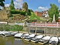 Boats on Medway below Tonbridge Castle.JPG