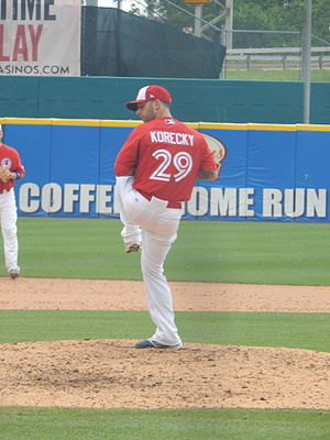 Bobby Korecky - Korecky pitching for the Bisons on June 11, 2015