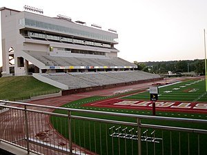 Bobcat Stadium (Texas State) - Image: Bobcat Stadium West Side
