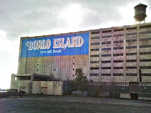 Bois Blanc Island (Ontario) - The abandoned Boblo Island Detroit Dock building in Detroit in 2010.