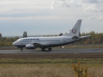 Belgorod International Airport - Orenair Boeing 737-500 at Belgood Airport.
