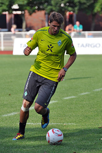 Sebastian Boenisch - Sebastian Boenisch during Werder Bremen's training on 11 July 2010.