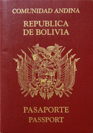Andean passport - Image: Bol Passport Face 02