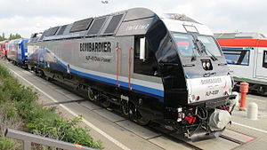 Electro-diesel locomotive - Bombardier ALP-45DP at the Innotrans convention in Berlin