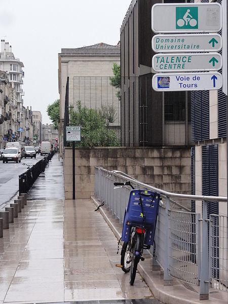 Bordeaux, Axe vert pour cyclistes