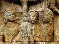 Borobudur - Lalitavistara - 008 E, King Suddhadana and Queen Maya (detail 1) (11248040846).jpg