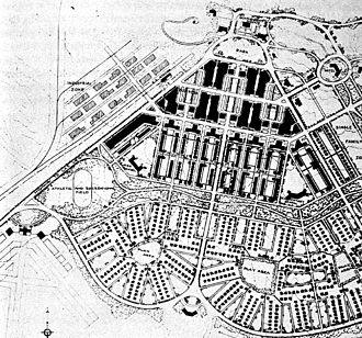 Boulder City, Nevada - Plan of Boulder City by DeBoer, 1930