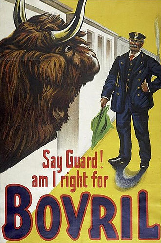 Bovril - Poster for Bovril, about 1900; V&A Museum no. E.163-1973