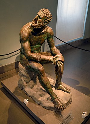 Boxer at Rest - Seated boxer (Museo delle Terme, Rome)