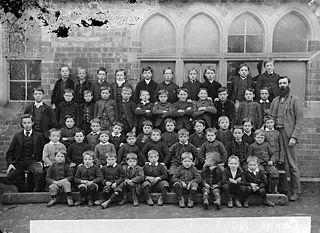 Boys, Carno school (1890)