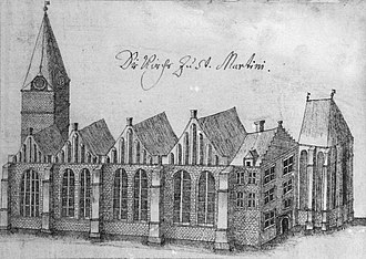 Ludwig Crocius - The St. Martini Church in Bremen in the 18th century.