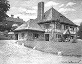 Contemporary photograph of a half-timbered building