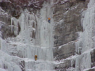 Bridal Veil Falls (Utah) - Image: Bridal Veil Falls Ice Climbers By Phil Konstantin