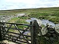 Bridge across swollen Deepdale Beck - geograph.org.uk - 483629.jpg
