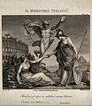 Britannia and Italia are shaking hands, behind them Mercury, Wellcome V0048002.jpg