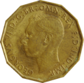 British threepence 1942 obverse.png