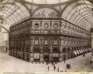 Fashion in Milan - The Galleria Vittorio Emanuele II in 1880.