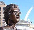 Bronze of Frankie Muse Freeman, Kiener Plaza, St. Louis MO.jpg