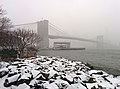 Brooklyn Bridge during snow storm January 2014.jpg