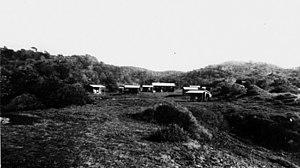 Happy Valley, Queensland (Fraser Island) - Huts at Happy Valley, circa 1935