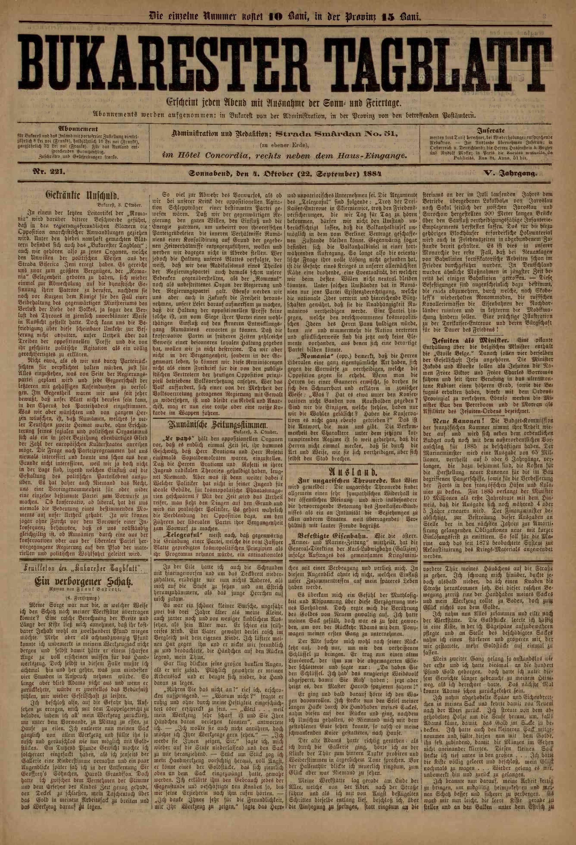 File:Bukarester Tagblatt 1884-10-04, nr  221 pdf - Wikimedia Commons