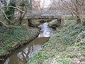Bull Brook at the Warfield Park Farm bridge - geograph.org.uk - 1224472.jpg