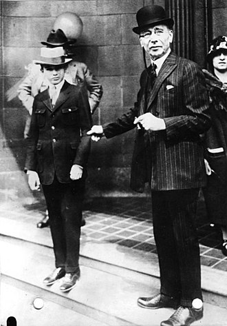 Leopold and Loeb - Bobby Franks with his father in 1924