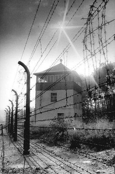 File:Bundesarchiv Bild 183-1983-0825-303, Gedenkstätte Buchenwald, Wachturm, Stacheldrahtzaun.jpg