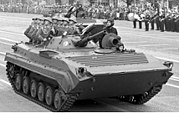 Bundesarchiv Bild 183-1988-1007-009, Berlin, 39. Jahrestag DDR-Gründung, Parade crop