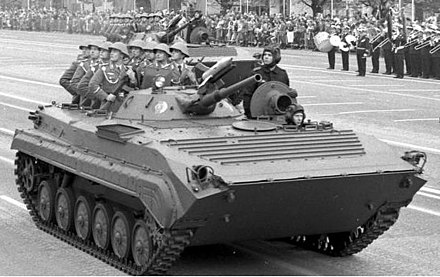 BMP-1 with eight passengers