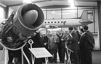 Industriewerke Ludwigsfelde - Pirna 014 jet engine at the Spring Leipzig Trade Fair in March 1958