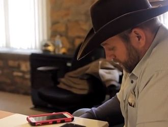 Occupation of the Malheur National Wildlife Refuge - Ammon Bundy speaks to a FBI negotiator via speaker phone at the Malheur National Wildlife Refuge on January 21.