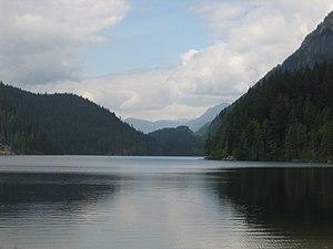 Buntzen Lake - Buntzen Lake looking north from public beach at south end