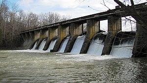Falling Water River - Burgess Falls Dam