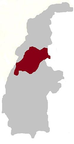 Township highlighted in the Sagaing Region
