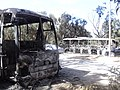 Burned buses near Garyounis university Benghazi2.JPG