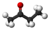 Ball-and-stick model of butanone