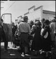 Byron, California. The moment has come for these farm families of Japanese ancestry to board the bu . . . - NARA - 537464.tif