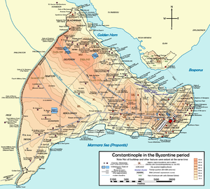 John Komnenos the Fat - Map of Byzantine Constantinople