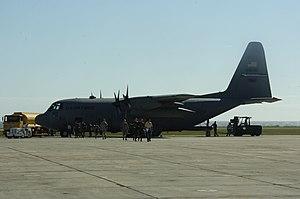 914th Air Refueling Wing - A wing C-130H Hercules at Naval Base Guantanamo Bay in 2010