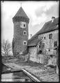 CH-NB - Estavayer-le-Lac, Château Chenaux, vue partielle extérieure - Collection Max van Berchem - EAD-6884.tif