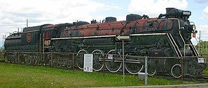 Confederation locomotive - CN 6167 Class U-2-e on display at Guelph, Ontario