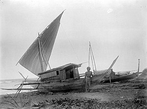 Tobelo - A vessel on the shore of Tobelo