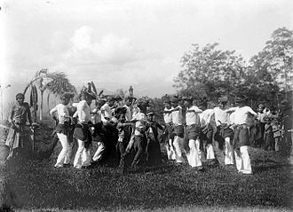 Acehnese people - Seudati dance performed at Samalanga, Bireun, Aceh, 1907