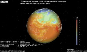 English: Screenshot of ClimatePrediction.net v...