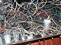 Cable salad in multimedia device.JPG