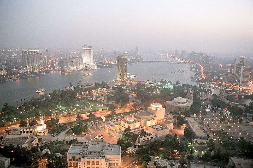 Cairo, evening view from the Tower of Cairo, Egypt, Oct 2004