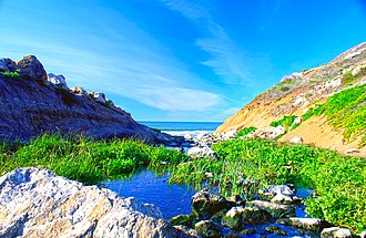 Calera Creek - Calera Creek outlet, Pacifica, California