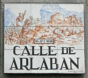 Battle of Arlabán - Street sign in Madrid commemorating battle.