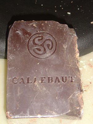 Callebaut cherry chocolate bar